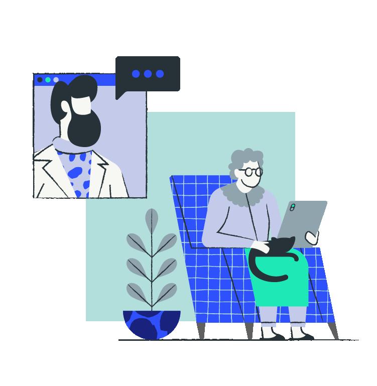 Pharmacist with elderly
